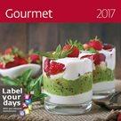 """Kalendář nástěnný 2017 """"label your days"""" - Gourmet"""