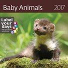 """Kalendář nástěnný 2017 """"label your days"""" - Baby Animals"""