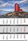 Kalendář nástěnný 2017 - 3měsíční/Pobřeží