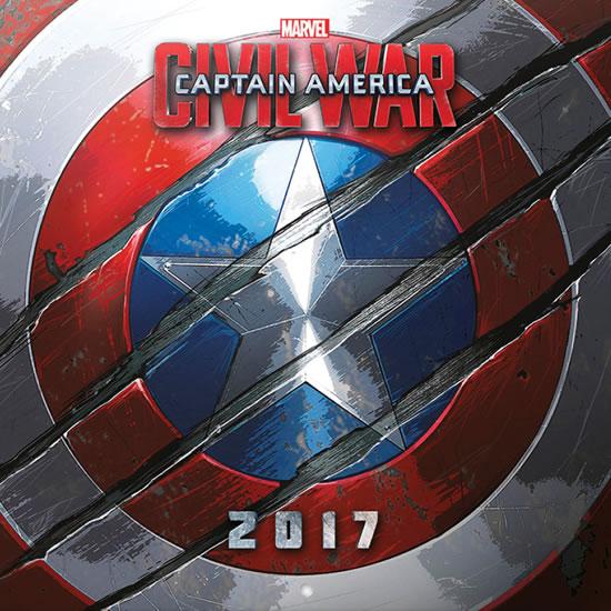 Kalendář 2017 - MARVEL CAPTAIN AMERICA - neuveden