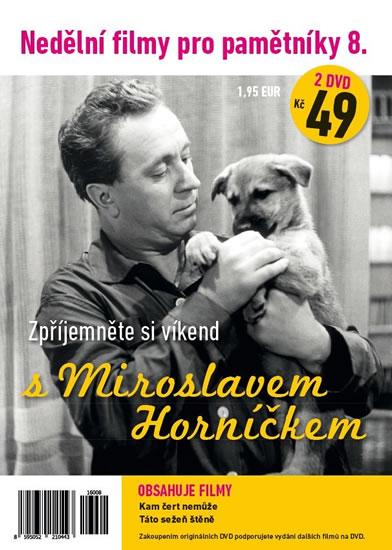 Nedělní filmy pro pamětníky 8. - Miroslav Horníček - 2 DVD pošetka - neuveden