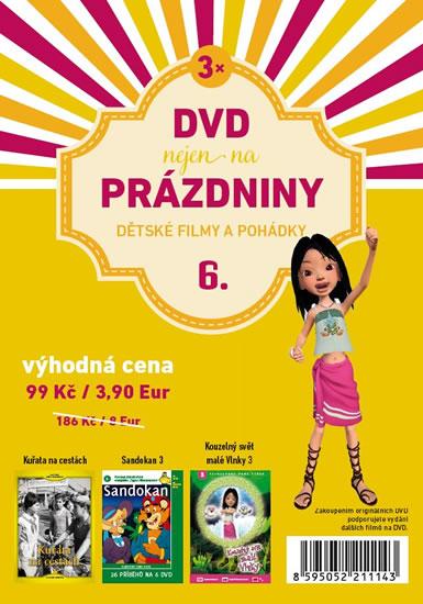 DVD nejen na Prázdniny 6. - Dětské filmy a pohádky - 3 DVD - neuveden
