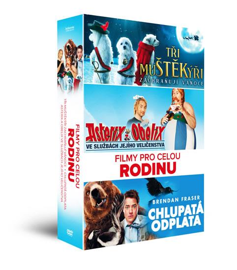 Filmy pro celou rodinu - DVD: Tři muŠŤĚKýři zachraňují Vánoce, Asterix a Obelix: Ve službách Jejího - neuveden