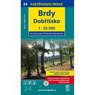 1: 50T (24)-Brdy, Dobříšsko (turistická mapa)