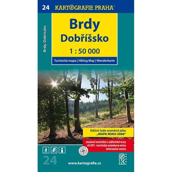 1: 50T (24)-Brdy, Dobříšsko (turistická mapa) - neuveden