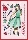 Adina - Vystřihovací papírová panenka v retro stylu