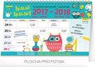 Školní plánovací kalendář s háčkem 30 x 21 cm
