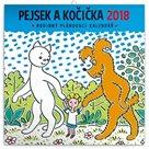 Kalendář poznámkový 2018 - Pejsek a kočička, 30 x 30 cm
