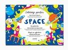 Space - Plakát omalovánka