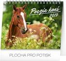 Kalendář stolní 2019  - Poezie koní, 16,5 x 13 cm