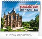 Kalendář stolní 2019  - Nejkrásnější místa Čech a Moravy, 16,5 x 13 cm