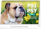 Kalendář stolní 2019  - Psi – Psy CZ/SK, 23,1 x 14,5 cm