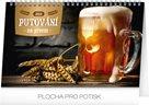 Kalendář stolní 2019  - Putování za pivem, 23,1 x 14,5 cm