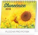 Kalendář stolní 2019  - Slunečnice s citáty, 16,5 x 13 cm