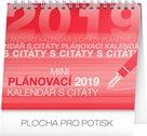 Kalendář stolní 2019  - Plánovací s citáty, 16,5 x 13 cm, 16,5 x 13 cm