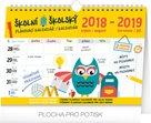 Školní plánovací kalendář 2018-2019 s háčkem 30 x 21 cm