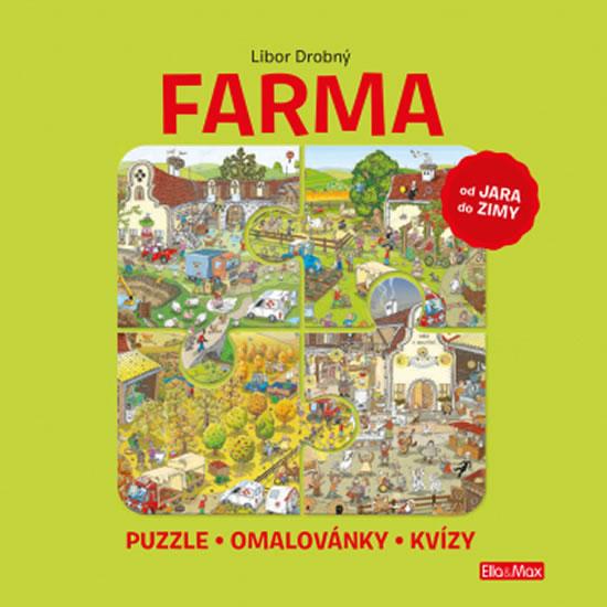 FARMA - Puzzle, omalovánky, kvízy - Drobný Libor