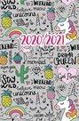 Diář školní 2020-2021: Kaktusy a ananasy