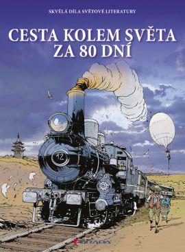 Cesta kolem světa za 80 dní - komiks - Verne Jules - 21x29