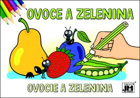 Ovoce a zelenina - omalovánka - neuveden - 15x21