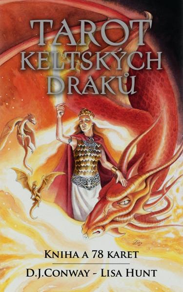 Tarot keltských draků kniha a 78 karet - D.J. Conwayová, Lisa Hunt - 9x14
