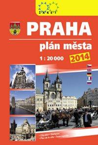 Praha plán města 2014 1: 20 000