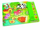 Muzikální puzzle zelené - Zvířátka