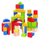 Stavebnice kostky barevné v kartonu, 50 dílů