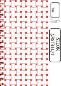 Učitelský notes - červený, kroužková vazba