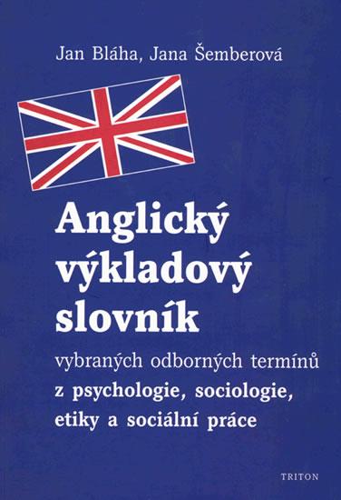 Anglický výkladový slovník - Bláha Jan - 14,8x20
