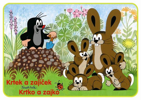 Krtek a zajíček - omalovánky A5 - Miler Zdeněk - 14,8x21