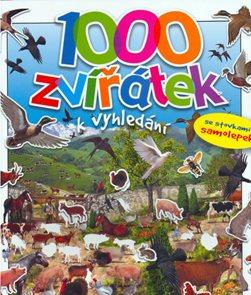 1000 Zvířátek k vyhledání - se stovkami samolepek