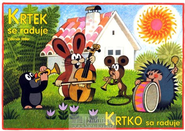 Krtek se raduje - omalovánky A5 - Miler Zdeněk - 14,8x21