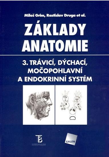 Základy anatomie 3 Trávicí,dýchací,močopohlavní a - Grim M., Druga R. - 19,5x28