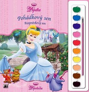 Popelka - Omalovánky s barvami