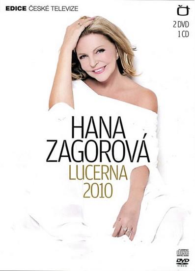 Hana Zagorová - Lucerna 2010 - 2 DVD+1CD - neuveden - 13,6x19,1