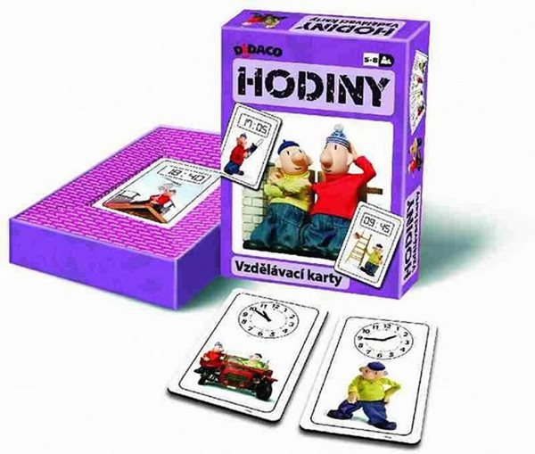 Vzdělávací karty - Hodiny - Pat a Mat - neuveden - 10,5x15,5