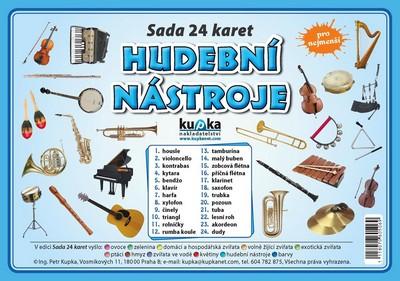 Hudební nástroje - Sada 24 karet - Kupka a kolektiv Petr - 14,8x21,1