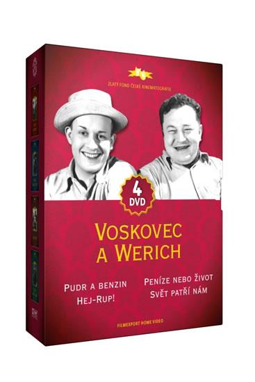 Voskovec a Werich - 4DVD - neuveden - 14x19,3