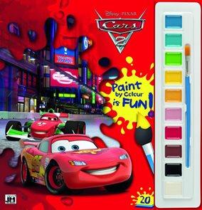 Auta 2 - Omalovánky s barvami A4