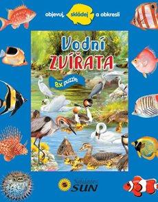 Vodní zvířata - 8x puzzle, objevuj, skládej a obkresli