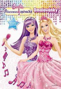 Barbie - Princezna a zpěvačka - Omalovánky se samolepkami