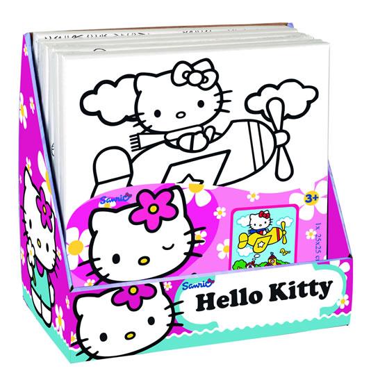 Hello Kitty - Malování na plátno - 25x25