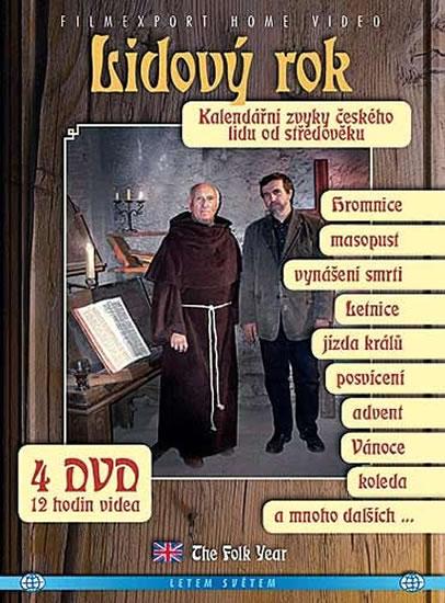 Lidový rok - Kalendářní zvyky českého lidu od středověku - 4DVD - neuveden - 14x19