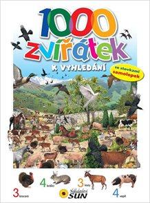 1000 Zvířátek k vyhledání - se stovkami samolepek - 2. vydání