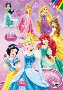 Disney Princezny - Omalovánka A4