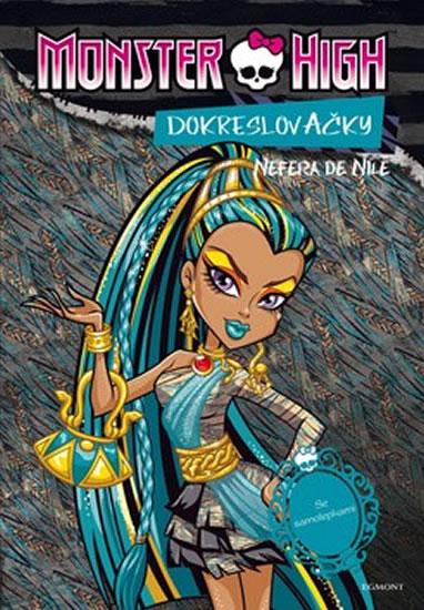 Monster High - Nefera de Nile + Operetta - Dokreslovačky se samolepkami - Mattel - 20,5x29,5