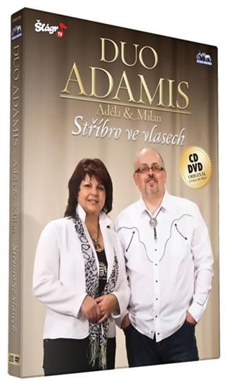 Duo Adamis - Stříbro ve vlasech - CD+DVD - neuveden - 13,5x19