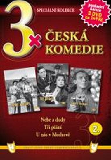 3x DVD - Česká komedie 2. - neuveden - 14,9x21