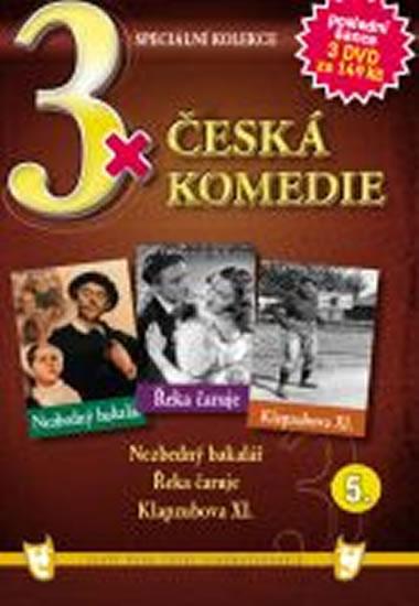 3x DVD - Česká komedie 5. - neuveden - 14,9x21